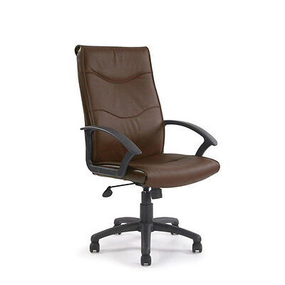High Back Leather Faced Executive Armchair Office Chair  | Free Fast Delivery