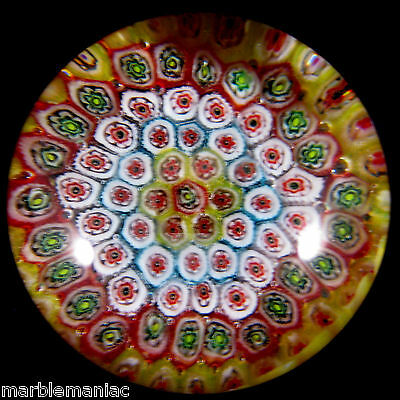 Old Murano Glass Paperweight Millefiori Neat VIntage Piece