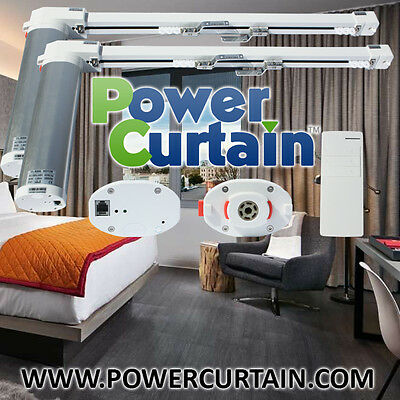 Electric Remote Controlled Drapery System 10-13ft Track PowerCurtain CL-920A