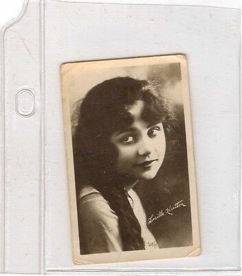 Antique mini portrait fan photograph of Lucille Hutton 141