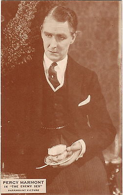 Antique portrait photograph postcard of Percy Marmont in THE ENEMY SEX 1924 160
