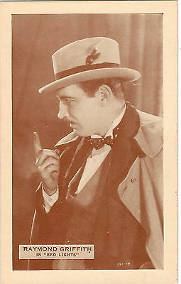 Antique postcard photo of Raymond Griffith RED LIGHTS 1923 166