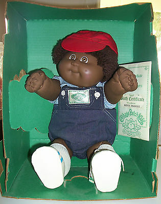 CABBAGE PATCH KID 1984 AFRICAN-AMERICAN BOY FUZZY HAIR NEW IN BOX BERTY MARCUS