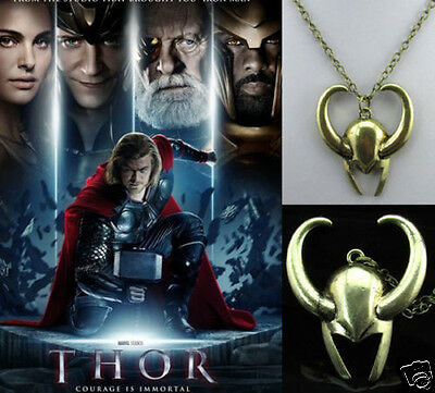 Super Cool The Thor Heimdallr Numen Helmet OX-head Alloy Pendant Necklace dj93