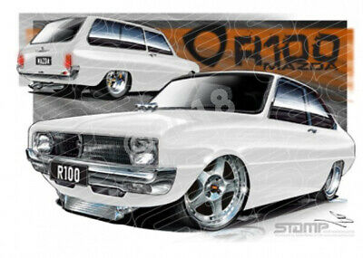 Imports Mazda R100 WHITE  STRETCHED CANVAS (S008A)-New_Itemq