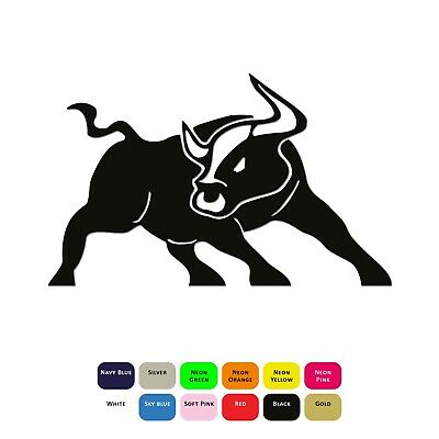 Angry Bull Iron On T-Shirt Clothing Heat Transfer Vinyl Sticker HTV Decal