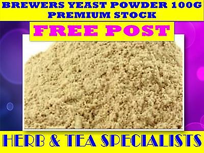 BREWERS YEAST POWDER 100G ☆ PREMIUM STOCK ☆ Saccharomyces cerevisiae☆ FREE POST