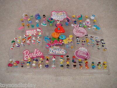 117 Rare Squinkies Loose LOT Girl SQUINKIES Hello Kitty Zinkies Barbie Disney