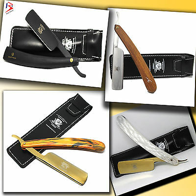 Gold Straight Cut throat Shaving Shavette Barber Razor Rasoi Rasiermesser бритва