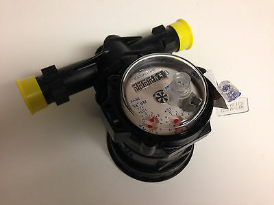 "Master Meter 3/4"" FAM Cold Water Meter with 3/4"" connection set NEW"