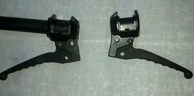 New Tomos; moped throttle and rear brake assemblies