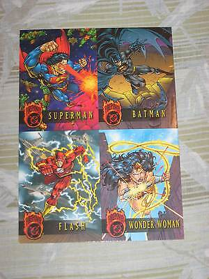 1996 DC FIREPOWER OUTBURST PREMIERE EDITION TOTALLY EMBOSSED UNCUT PROMO SHEET!