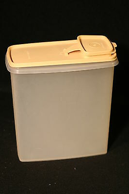 Vintage Tupperware Modular Mate Gold Cereal Keeper