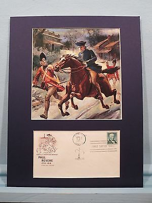 The Midnight Ride of Paul Revere as he eludes the British & First day Cover