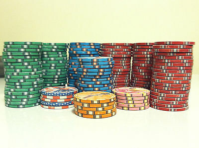150 American Beauties Ceramic Poker Chips - New - Unused 10g Chips Lot F