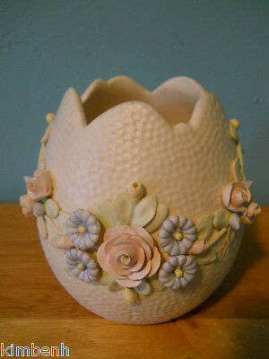 Vintage Estate Find by E.E.S. (signed) Made in Italy Art Pottery Textured EGG