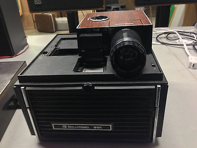 Bell & Howell Slide Cube Projector Model 991 w/ Protective Shell