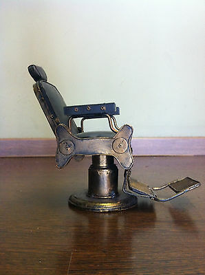 Very Beautiful Vintage Small Barber Chair 23cm X 13cm X 13cm Excellent Condition