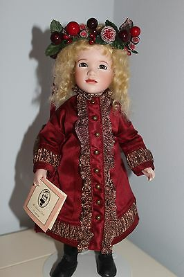 ARTIST WENDY LAWTON  DOLL  #  25 of 75 CHRISTMAS ~ VISIONS OF SUGARPLUMS