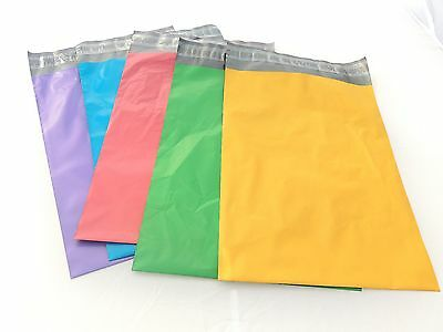 100 10x13- 5 Colors! and 50 6x9 Red Flat Poly Mailers Shipping Self Seal Postal