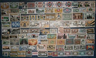 [#17256] - BEAUTIFUL COLLECTION NOTGELD: 100 DIFFERENT GERMANY all uncirculated!