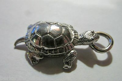 Pewter Tortoise Turtle Pendant Made In USA