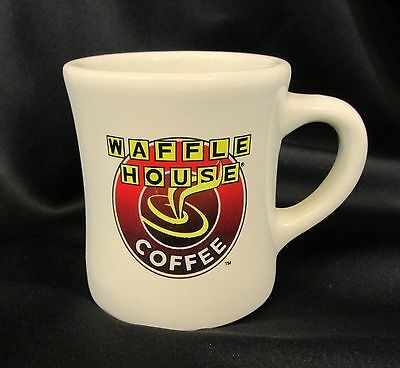 Waffle House Coffee cup mug Tuxton 8oz thick beige color logo advertising 8oz