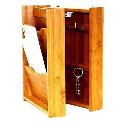 Rack Letter Key Wood Holder Mail Organizer Wall Mount Storage Home Office Paper