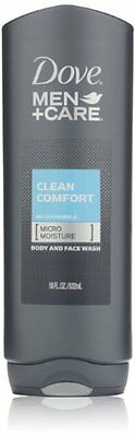 Dove Men and Care Body and Face Wash, Clean Comfort, 18 Ounce (Pack of 3) , New,