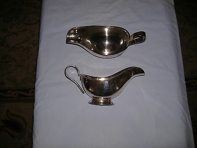 TWO Silverplated gravy boat /Sauciers D W Haber New York