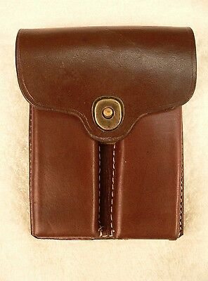 Leather .45 Double Magazine Pouch