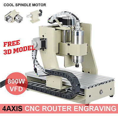 NEW 4 Axis ENGRAVER CNC ROUTER 3020 DRILLING MILLING MACHINE SHIPPED