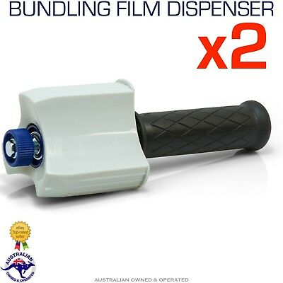 2x Hand Held Stretch Wrap Bundling Film Dispenser Wrap Pallet Wrapping 50mm Core