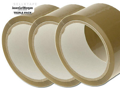 Brown Parcel Packing Tape Strong Packaging Roll 48mm x 66m Pack Size 1,2,3 Rolls