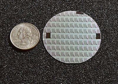 "Rare 2"" Silicon wafer - 1970's  Syncronar LED watch chips"