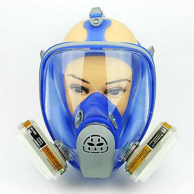 For 3M 6800 Silicone Gas Mask Full Facepiece Respirator 7PCS Suit Painting New