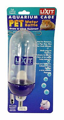 Lixit Corporation SLX0850 Aquarium/Cage Small Animal Water Bottle, 5-Ounce , New