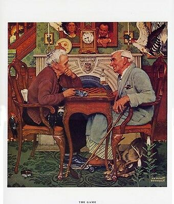Norman Rockwell April Fools' Day Print THE GAME