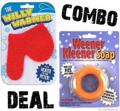 Heater For your Peter Willy Warmer Sock + Weener Weiner Cleaner Soap ~ GAG COMBO