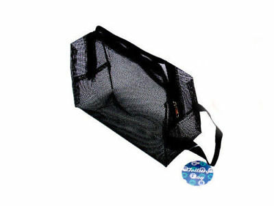 Travel Outdoor Storage Mesh Storage Bag Pouch Zipper Hanging for Toilet Camping