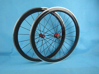 wholesale 50mm clincher carbon road wheel aluminum brake surface 700C 20.5mm