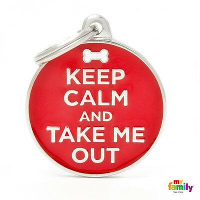 Medaglietta MyFamily Keep Calm and Keep Me Out targhetta cane incisa gratis