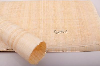 """Wholesale Lot of 10 Blank Egyptian Hand Made Papyrus 12.5""""x 8.5"""" (32 x 21.5 cm)"""