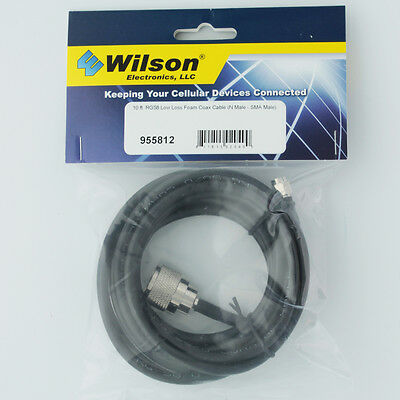 Wilson 955812 10' Extension Cable RG58U Low Loss Foam Coax Cable 955812