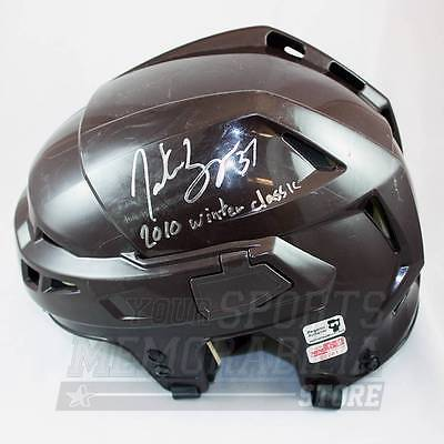Patrice Bergeron Boston Bruins Signed Autographed WC Inscribed Team Issue Helmet