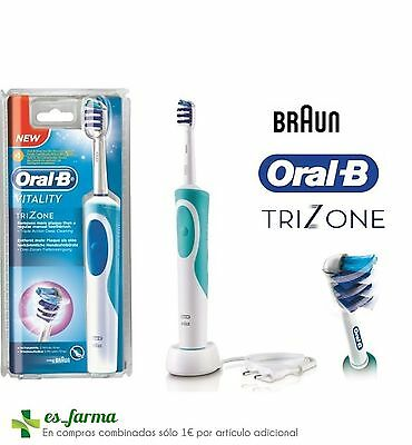 Braun Oral B Cepillo Electrico Trizone  Recargable Temporizador Triple Accion