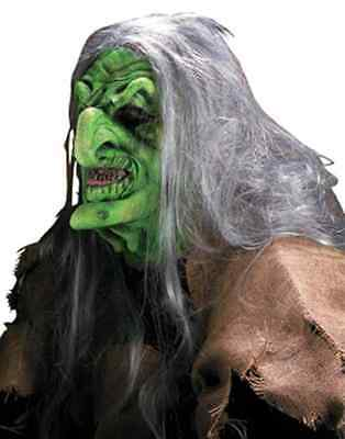 Swamp Hag Witch Wicked Green Dress Up Halloween Costume Makeup Latex Prosthetic