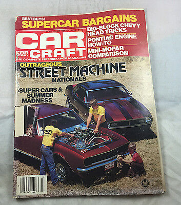 Super Cars Street Machine Nationals Oct 1981    Car Craft  Magazine Vintage