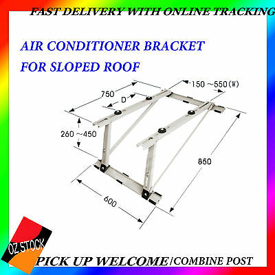 Air Conditioner Bracket For Sloped Roof Anti-Corrosion Weight Support Up To 80kg
