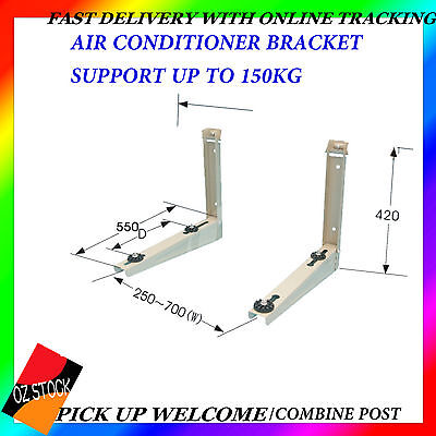 Air Conditioner Bracket Wall Bracket Mount 150kg Sturdy Anti-Corrosion Great